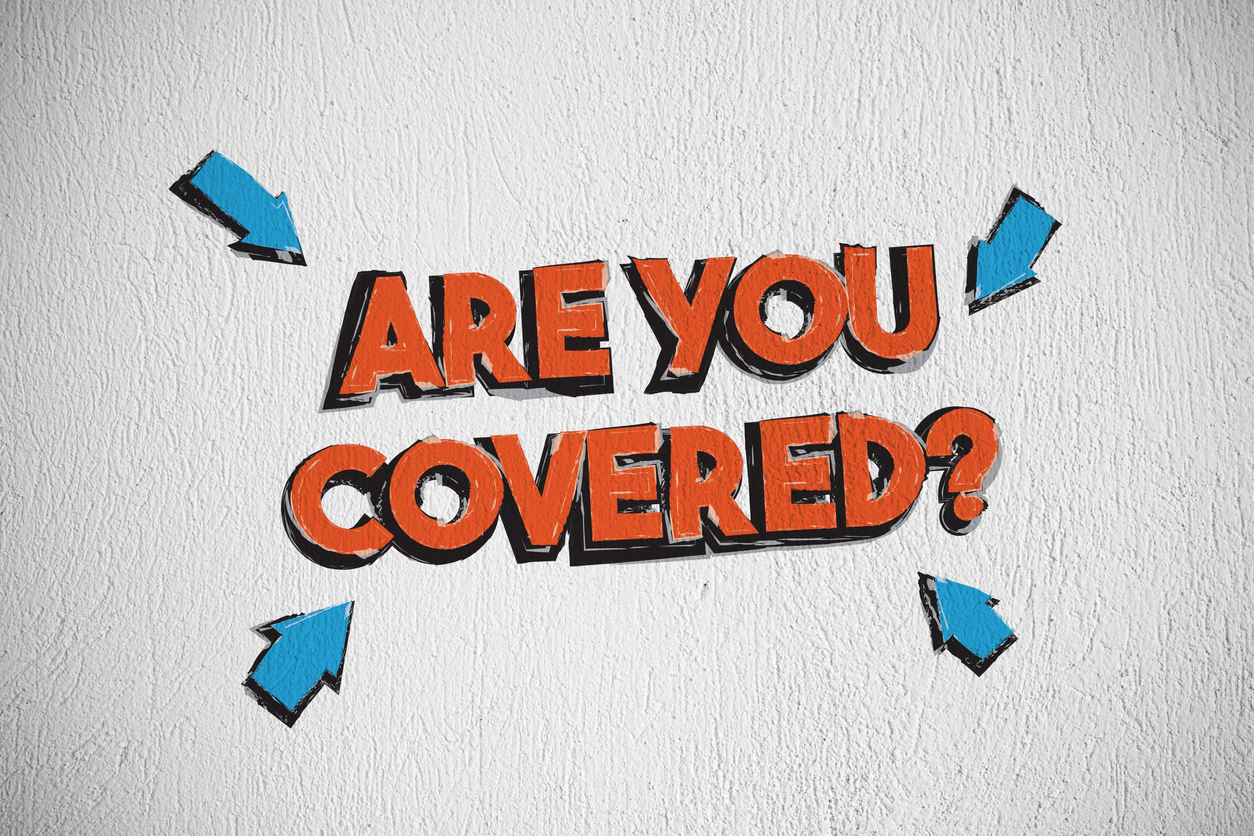 Are You Covered Graffiti on White Background